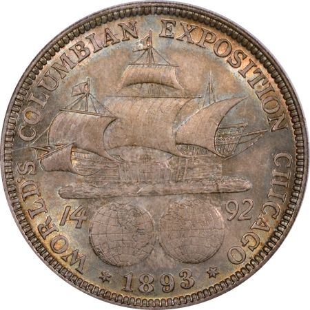New Certified Coins 1893 COLOMBIAN COMMEMORATIVE HALF DOLLAR – PCGS MS-64