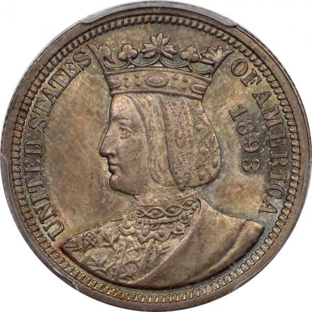 U.S. Certified Coins 1893 ISABELLA COMMEMORATIVE QUARTER PCGS MS-65, PLEASING ORIGINAL GEM!