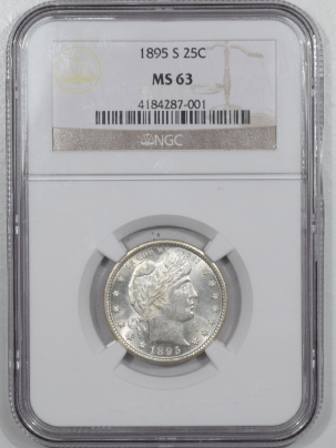 Barber Quarters 1895-S BARBER QUARTER – NGC MS-63 FLASHY!