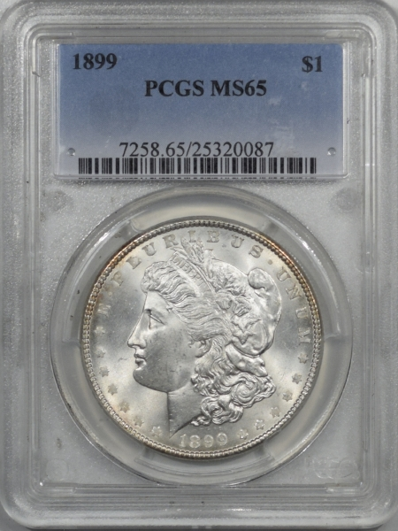New Certified Coins 1899 MORGAN DOLLAR – PCGS MS-65 WHITE!