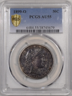 On Sale 1899-O BARBER HALF DOLLAR PCGS AU-55