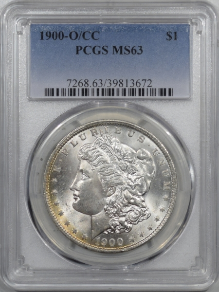 New Certified Coins 1900-O/CC MORGAN DOLLAR – PCGS MS-63 FLASHY!