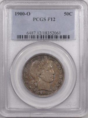 New Certified Coins 1900-O BARBER HALF DOLLAR – PCGS F-12