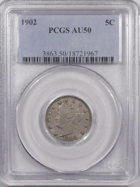 Liberty Nickels 1902 LIBERTY NICKEL – PCGS AU-50