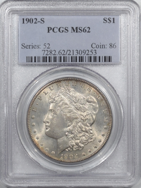 New Certified Coins 1902-S MORGAN DOLLAR – PCGS MS-62