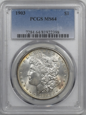 New Certified Coins 1903 MORGAN DOLLAR – PCGS MS-64