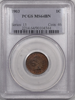Indian 1903 INDIAN CENT – PCGS MS-64 BN