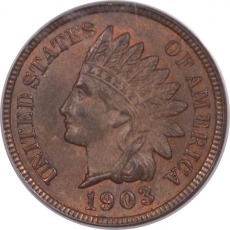 Liberty Cap Half Cents 1903 INDIAN CENT – PCGS MS-64 BN