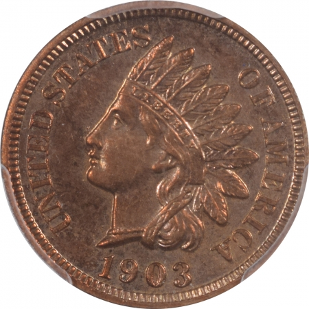 New Certified Coins 1903 PROOF INDIAN CENT – PCGS PR-64 RB