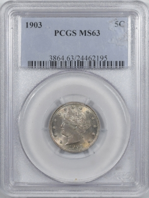 Liberty Nickels 1903 LIBERTY NICKEL – PCGS MS-63 PRETTY!
