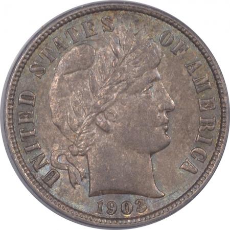 New Certified Coins 1903-O BARBER DIME – PCGS AU-58 ORIGINAL & PREMIUM QUALITY!