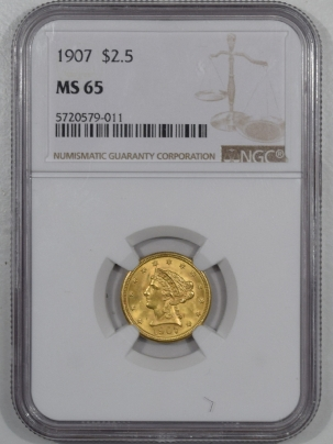 $2.50 1907 $2.50 LIBERTY GOLD – NGC MS-65