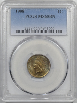 Indian 1908 INDIAN CENT – PCGS MS-65 BN PRETTY & PREMIUM QUALITY!