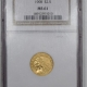 New Certified Coins 1907 $2.50 LIBERTY GOLD – NGC MS-65