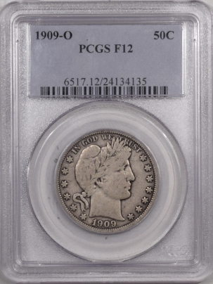 New Certified Coins 1909-O BARBER HALF DOLLAR – PCGS F-12
