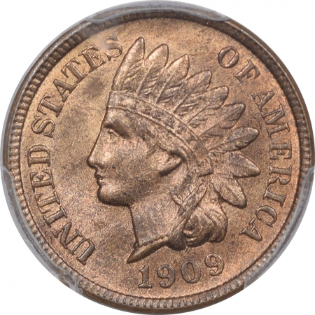Indian 1909-S INDIAN CENT – EAGLE EYE – PCGS MS-65 RB