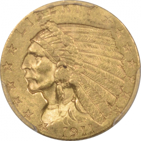 Coin World/Numismatic News Featured Coins 1911 $2.50 INDIAN HEAD GOLD – PCGS MS-61