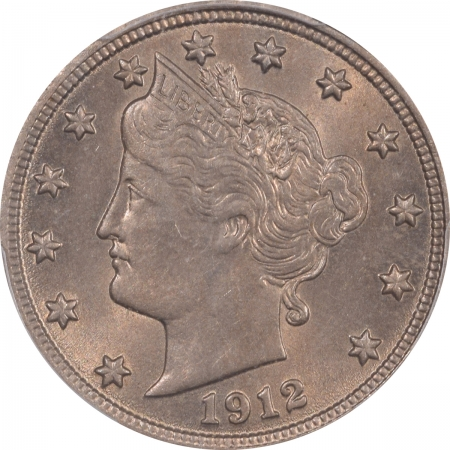 New Certified Coins 1912 LIBERTY NICKEL – PCGS MS-63