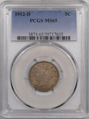 New Certified Coins 1912-D LIBERTY NICKEL – PCGS MS-65