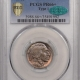 CAC Approved Coins 1915 BUFFALO NICKEL – PCGS MS-65, WOW! NUCLEAR GREEN MONSTER COLOR! CAC!
