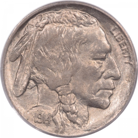Buffalo Nickels 1914-D BUFFALO NICKEL – PCGS MS-63