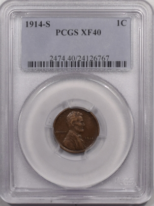 Lincoln Cents (Wheat) 1914-S LINCOLN CENT – PCGS XF-40