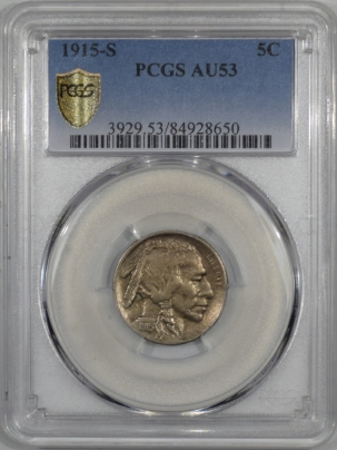 Buffalo Nickels 1915-S BUFFALO NICKEL – PCGS AU-53