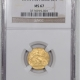 New Certified Coins 1929 $2.50 INDIAN HEAD GOLD – NGC MS-63