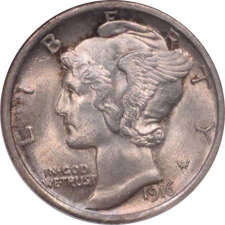 New Certified Coins 1916 MERCURY DIME – NGC MS-64 FB