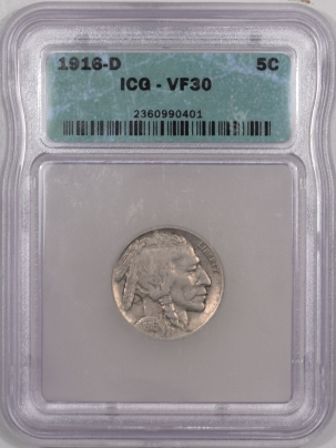 Buffalo Nickels 1916-D BUFFALO NICKEL – ICG VF-30