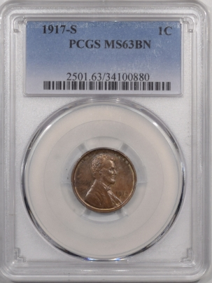 New Certified Coins 1917-S LINCOLN CENT – PCGS MS-63 BN