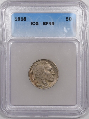 Buffalo Nickels 1918 BUFFALO NICKEL – ICG EF-40