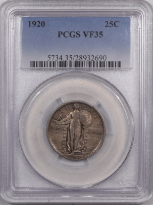 New Certified Coins 1920 STANDING LIBERTY QUARTER – PCGS VF-35