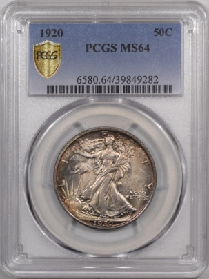 New Certified Coins 1920 WALKING LIBERTY HALF DOLLAR – PCGS MS-64, ORIGINAL & PQ!