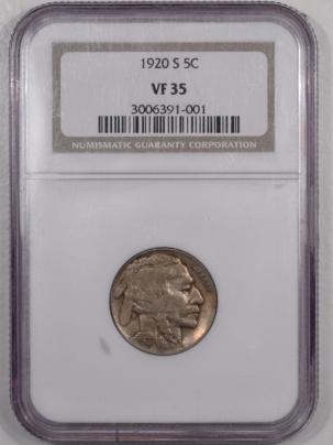 Buffalo Nickels 1920-S BUFFALO NICKEL – NGC VF-35
