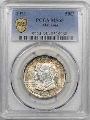 New Certified Coins 1921 ALABAMA COMMEMORATIVE HALF DOLLAR – PCGS MS-65 LOOKS 66, PREMIUM QUALITY!
