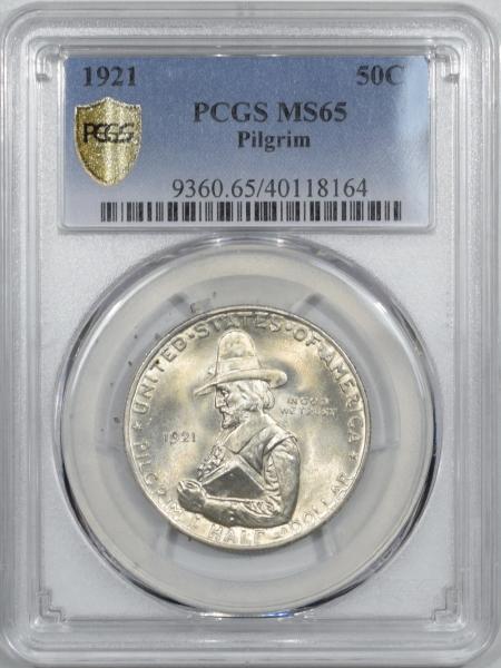 Silver 1921 PILGRIM COMMEMORATIVE HALF DOLLAR – PCGS MS-65 PREMIUM QUALITY!