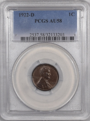 New Certified Coins 1922-D LINCOLN CENT – PCGS AU-58