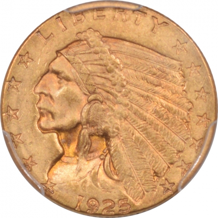 CAC Approved Coins 1925-D $2.50 INDIAN HEAD GOLD – PCGS MS-64 PRETTY PREMIUM QUALITY! CAC APPROVED!