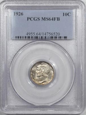Mercury Dimes 1926 MERCURY DIME – PCGS MS-64 FB