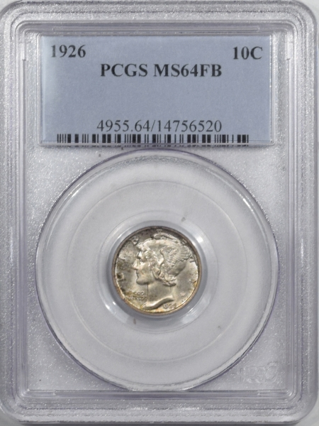 New Certified Coins 1926 MERCURY DIME – PCGS MS-64 FB