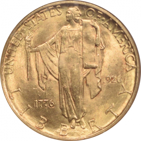 New Certified Coins 1926 $2.50 SEQUICENTENNIAL COMMEMORATIVE GOLD – NGC MS-64
