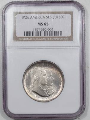 Silver 1926 SEQUICENTENNIAL COMMEMORATIVE HALF DOLLAR – NGC MS-65, GEM!