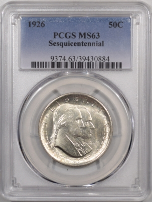 New Certified Coins 1926 SESQUICENTENNIAL COMMEMORATIVE HALF DOLLAR – PCGS MS-63