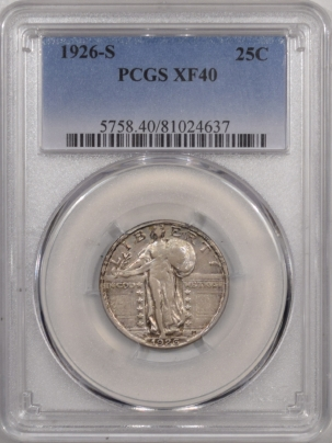 New Certified Coins 1926-S STANDING LIBERTY QUARTER – PCGS XF-40, TOUGH!