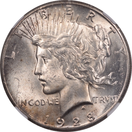 New Certified Coins 1928 PEACE DOLLAR – NGC MS-62 FLASHY & WELL STRUCK!
