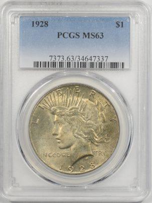 1928-$1-PCGS-MS63-337-1