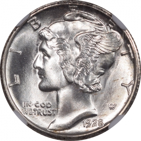 New Certified Coins 1928-S MERCURY DIME – NGC MS-67 BLAST WHITE, PQ & CAC APPROVED!