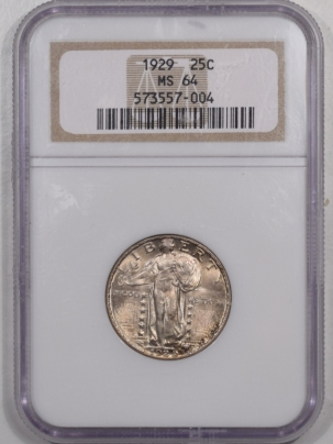 New Certified Coins 1929 STANDING LIBERTY QUARTER – NGC MS-64