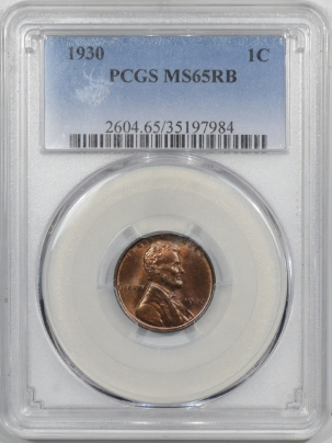 New Certified Coins 1930 LINCOLN CENT – PCGS MS-65 RB